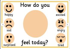 how are you feeling today?. TeachersMag.com Feelings Preschool, Feelings Activities, Art Therapy Activities, Preschool Learning Activities, Eyfs Activities, English Activities For Kids, Lessons For Kids, Worksheets For Kids, Feelings Chart