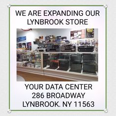There is a lot less standing room in our Lynbrook computer and electronics store lately.  We have expanded our computer and phone repair service too.    We offer on site business and home service too on computers, networks, phone systems, security systems and camera surveillance systems. Your Data Center is a five star rated HomeAdvisor Elite Services company too.  SO.. HERE'S WHAT WE HAVE BEEN UP TO RECENTLY..  We've been busy adding more stock and display space for our new items daily..