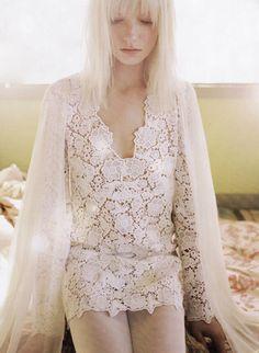 Crocheted lace wedding dress by Diane von Furstenberg