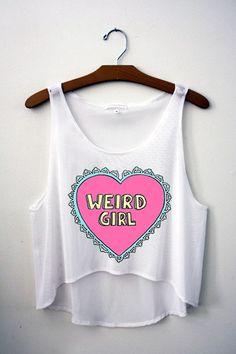 Weird Girl Crop Top – Hipster Tops