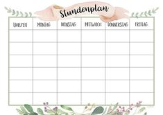back to school: Free timetable for printing - . Finally back to school: Free timetable for printing - . School Timetable, Weekly Schedule, School Notes, School Hacks, School Organization, Elementary Education, Math Lessons, Printable Planner, Schedule Printable