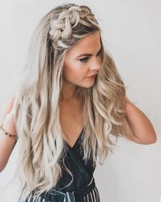 Boho headband braid.
