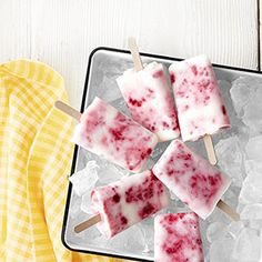 Raspberry-buttermilk ice pops are perfect for those hot summer days.