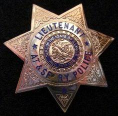 ATSF Railway Police Lieutenant Badge