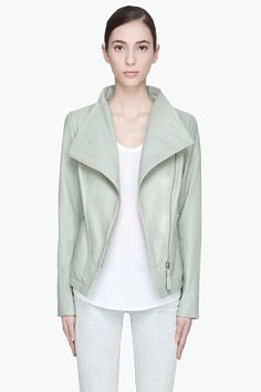 MACKAGE Dusty green Tribeca Perfector Style Leather jacket