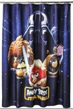 Licensed Angry Birds Star Wars Fabric Shower Curtain 70 X 72 NEW!