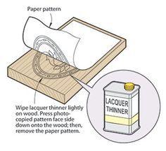 engraving pattern transfer