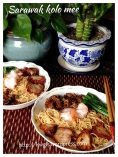 Sarawak dry noodles - kolo noodles  #sarawak_kolo_noodles  #kenneth_goh  #guaishushu Asian Noodle Recipes, Asian Recipes, Ethnic Recipes, Indonesian Recipes, Chinese Recipes, Dried Noodles Recipe, Good Food, Yummy Food, Awesome Food