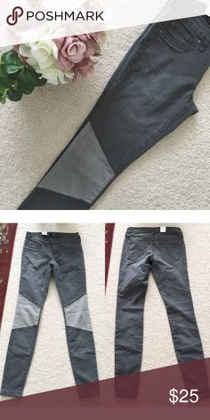 "Jessica Simpson Patch Gray Skinny Jeans A pair of brand new knee patch skinny jeans. Waist measures 13"" and inseam about 31"". Jessica Simpson Jeans Skinny"