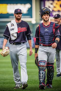 Cleveland Indians Shane Bieber making his major league debut on his birthday against Minnesota Twins at Target Field with Yan Gomes. May Indians won Behind is pitching coach Carl Willis. Clemson Baseball, Minnesota Twins Baseball, Cleveland Indians Baseball, Baseball Socks, Baseball Shirts, Jacobs Field, No Crying In Baseball, American League, Major League