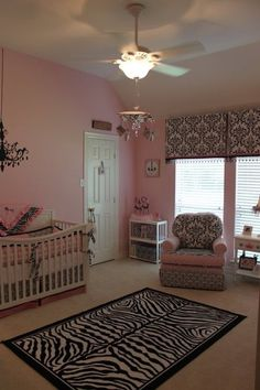 Adorable baby girls room. Makes me want to try for a baby girl, but my luck I'd get a 4th boy!!