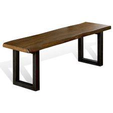 Live Edge Wood / Metal Kitchen Bench