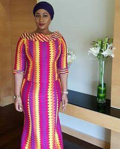 Samira Bawumia in kente kaba style
