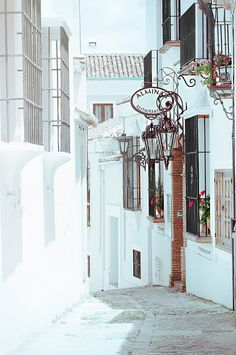 Spain Photography - Spain - Spanish Architecture - Street - White Village - Red…