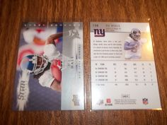 D.J. Hall   2008 Upper Deck First Edition #158  RC - Lot of 2 - (auc1) #NewYorkGiants
