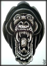 Baboon print by Aaron Ashworth @ WA Ink.