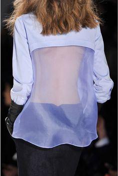 marissa webb fall / holiday 14 details - not just your boyfriend shirt.  silk organza back