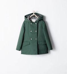 DOUBLE-BREASTED COAT from Zara Girls AW 14
