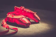 Dressed by angels red ballet slippers shoes vintage http://www.facebook.com/JaneSamuelsPhotography