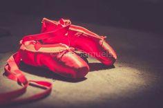 Dressed by angels red ballet slippers shoes vintage http://www.facebook.com/JaneSamuelsPhotography
