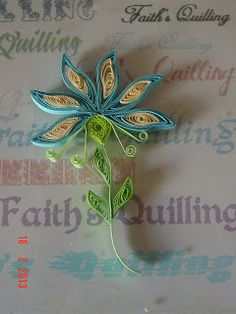 Faith's Quilling-Art of quilling, Paper craft, Quilled flowers, Quilling