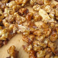 Candied Walnuts for Salads! I've made candied walnuts in the past, and it has always involved toasting nuts in the oven, complicated syrups, and candy thermometers.  This method is simple and involves nothing but 5 minutes, a pan, and some sugar.