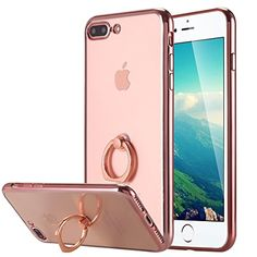 iPhone 7 Plus Case, Ultra Thin Clear Luxury TPU Rose Gold Bumper Case Cover with Built-in Ring Grip Holder for Apple iPhone 7 Plus -- Awesome products selected by Anna Churchill