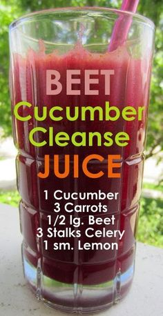 Beet-Cucumber Cleanse Juice