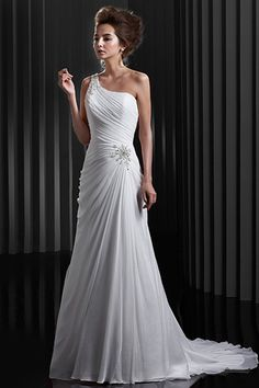 Buy Concise Chiffon White Wedding Dresses New Arrival latest design at online stores, high quality of cheap wedding dresses, fashion special occasion dresses and more, free shipping worldwide.
