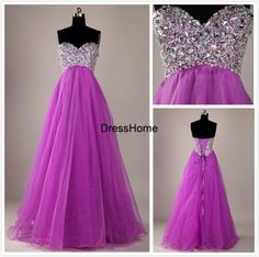 Homecoming Dress Sweetheart / Long Homecoming Dress / by DressHome, $119.99