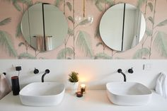 Bianca and Carla Challenge apartment Ensuite The Block 2018 Reno Shows, Homewares Online, Bathroom Designs, Beautiful Homes, Bathrooms, Challenge, Interiors, Mirror, Tv