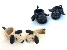 Crochet Pattern Children Slippers Doggy от CreativeCrochetShop