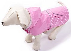 BINGPET Fashion Reflective Waterproof Dog Raincoat Cute Dots Pattern Outdoor Hooded Rain Coat for Dogs * Special dog product just for you. : Dog Apparel and Accessories Baby Raincoat, Yellow Raincoat, Hooded Raincoat, Raincoats For Women, Rain Poncho, Cat Accessories, Dog Accesories, Outdoor Dog, Dog Accessories