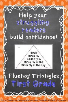 Reading Fluency Activity Fluency Triangles® for First Grade Sight Words RTI Reading Fluency Activities, Reading Tutoring, Reading Intervention, Reading Strategies, Reading Skills, Teaching Reading, Guided Reading, Teaching Tools, Teaching Ideas