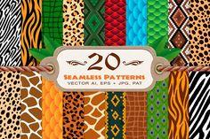 20 Animal Print Seamless Patterns from DesignBundles.net
