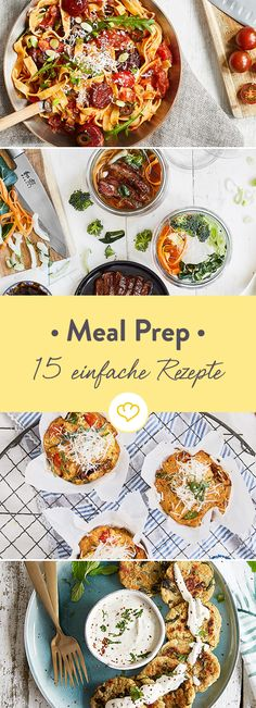 Cook, take away, enjoy: 15 easy meal prep recipes - Kochen, mitnehmen, genießen: 15 einfache Meal-Prep-Rezepte [Display] Cook yourself with 15 simple meal prep recipes relaxed through the week [In cooperation with Maggi] - Lunch Meal Prep, Meal Prep Bowls, Easy Meal Prep, Healthy Meal Prep, Healthy Snacks, Easy Meals, Healthy Recipes, Meals To Go, Easy Recipes