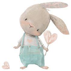 Illustration Mignonne, Cute Illustration, Bunny Art, Cute Bunny, Nursery Wall Decals, Nursery Prints, Forest Animals, Woodland Animals, Safari Animals