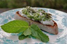 Two Spring Crostini   entertaining by the bay #recipe asparagus crostini
