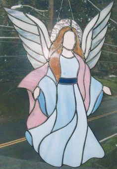 Stained Glass Guardian Angel