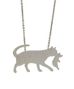 Look what I found on #zulily! Silvertone Mama Cat & Kitten Pendant Necklace #zulilyfinds