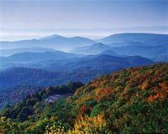 Blue Ridge Mountains.  West Virginia.