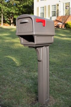Mailbox Post Combination Heavy Duty Double Walled Polymer Plastic Gibraltar