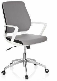 Design Bürostuhl Drehstuhl ESTRA grau Schreibtischstuhl Chefsessel Sessel NEU