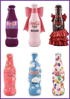 Image result for 50's style decorated soda pop bottles
