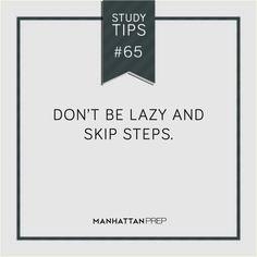 #GMAT #GRE #LSAT #STUDYTIPS    ManhattanPrep.com