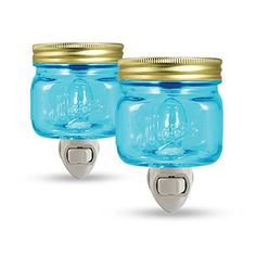 Pack of 2 - Mason Jar Plug in Wax Warmer Night Light (Blu... https://www.amazon.com/dp/B01DMSYIAY/ref=cm_sw_r_pi_dp_e4Ztxb17ZST6K