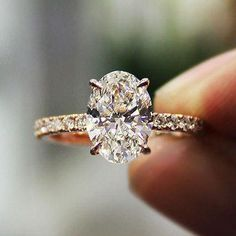 1.00 Ct Oval Brilliant Cut Natural Diamond Engagement Ring F,VS2 GIA 14K WG New! | Jewelry & Watches, Engagement & Wedding, Engagement Rings | eBay!