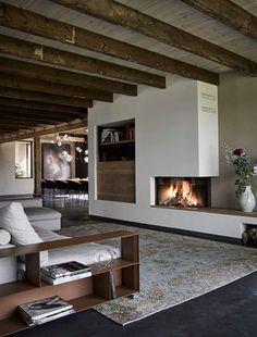 Design Kaminofen gemauert für modernes Wohnen -48 Bilder | Kamin und ...