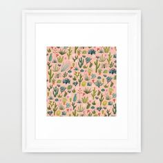 Buy Arizona Cacti Framed Art Print by carriehobson. Worldwide shipping available at Society6.com. Just one of millions of high quality products available.