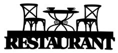 Restaurant Scrapbooking Laser Cut Title With Table and Chairs